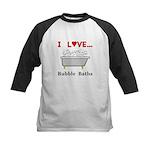 Love Bubble Baths Kids Baseball Jersey