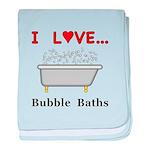 Love Bubble Baths baby blanket