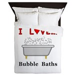 Love Bubble Baths Queen Duvet