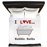 Love Bubble Baths King Duvet
