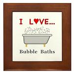 Love Bubble Baths Framed Tile