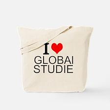 I Love Global Studies Tote Bag