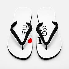 I Love Global Studies Flip Flops