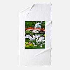The Swan Family Beach Towel