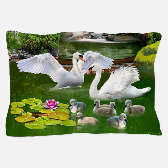 The Swan Family Pillow Case