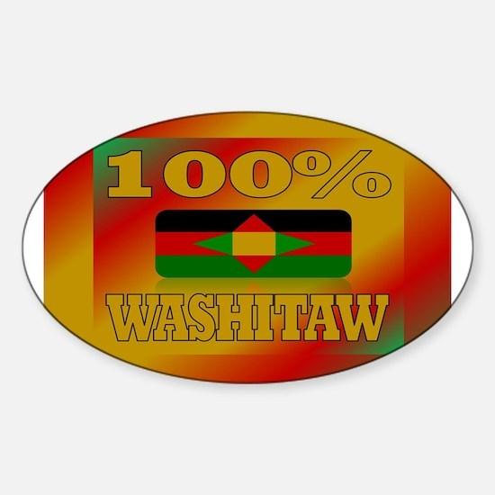 100% Washitaw Sticker (Oval)
