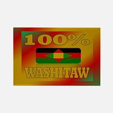100% Washitaw Rectangle Magnet