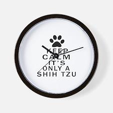 Shih Tzu Keep Calm Designs Wall Clock
