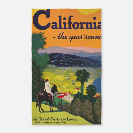 California, the Year 'Round; Vintage Trav Area Rug