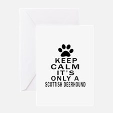Scottish Deerhound Keep Calm Designs Greeting Card