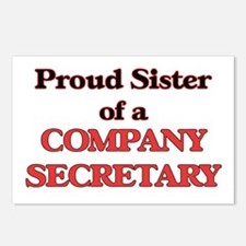 Proud Sister of a Company Postcards (Package of 8)