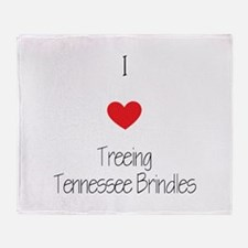 I love Treeing Tennesse Brindles Throw Blanket