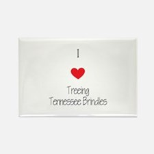 I love Treeing Tenness Rectangle Magnet (100 pack)