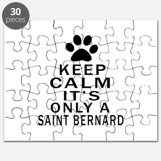 Saint Bernard Keep Calm Designs Puzzle