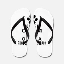 Rhodesian Ridgeback Keep Calm Designs Flip Flops