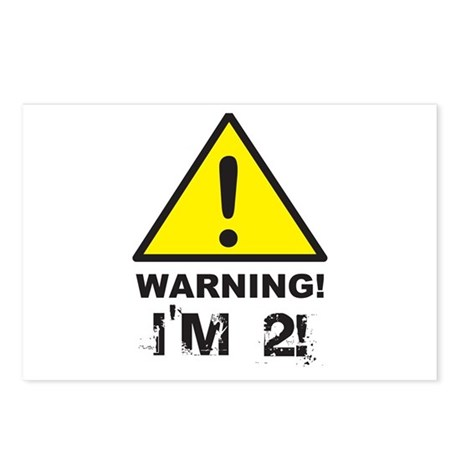 Warning I'm 2 Postcards (Package of 8)
