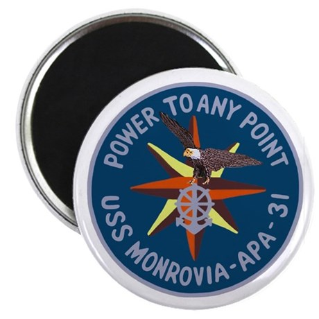 "USS Monrovia (APA 31) 2.25"" Magnet (100 pack)"