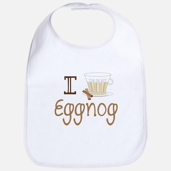 I Love Eggnog Bib