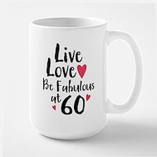 Live Love Fab 60 Large Mug