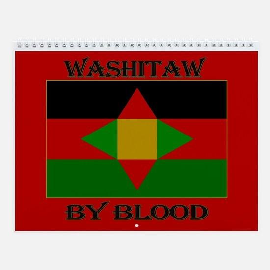 Washitaw By Blood Wall Calendar