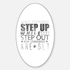 Cute Stepfather Sticker (Oval)