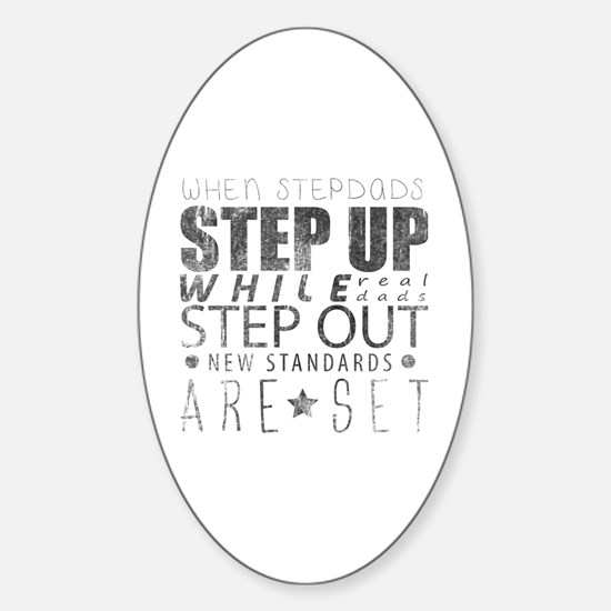 Cute Step father Sticker (Oval)