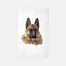 German Shepherd Art Portrait Area Rug