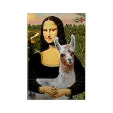 Mona's Baby Llama Rectangle Magnet