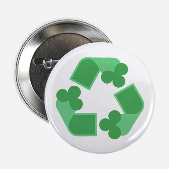 """Recycle Shamrock 2.25"""" Button (10 pack)"""