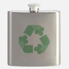 Recycle Shamrock Flask