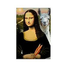 Mona Lisa's Llama Rectangle Magnet