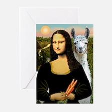 Mona Lisa's Llama Greeting Cards (Pk of 10)