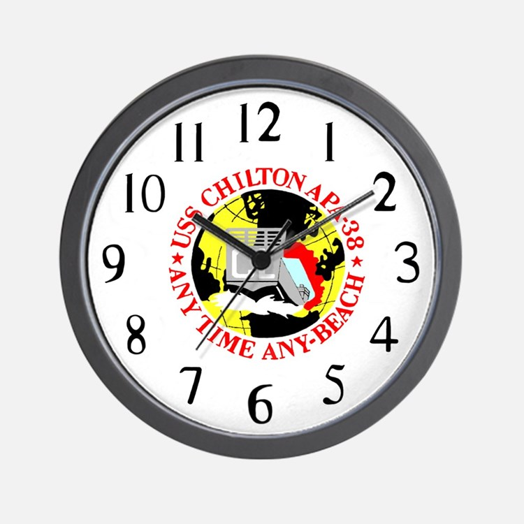 USS Chilton (APA 38) Wall Clock