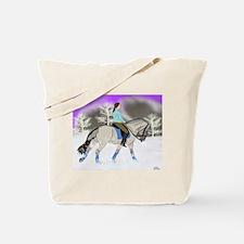 Dressage Fjord Horse Art Print Tote Bag