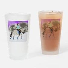 Dressage Fjord Horse Art Print Drinking Glass