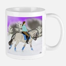 Dressage Fjord Horse Art Print Mugs