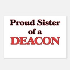 Proud Sister of a Deacon Postcards (Package of 8)