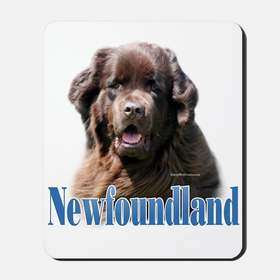 Newf(brown)Name Mousepad