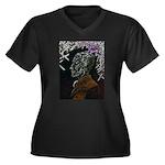 Lord Horror Women's Plus Size V-Neck Dark T-Shirt