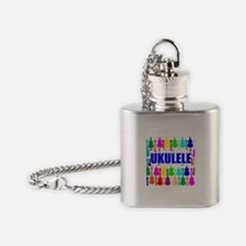 Rainbow Ukulele Flask Necklace