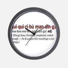 Quiquiribumandinga Wall Clock