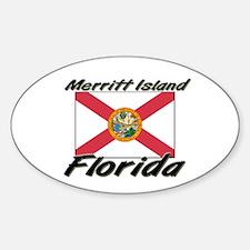 Merritt Island Florida Oval Decal