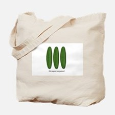 Me Importa Tres Pepinos Tote Bag