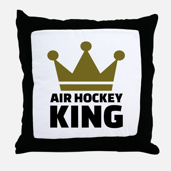 Air hockey King Throw Pillow
