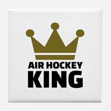 Air hockey King Tile Coaster