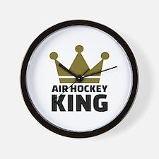 Air hockey King Wall Clock