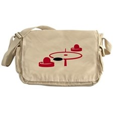 Air hockey Messenger Bag