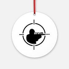 Airsoft crosshairs Round Ornament