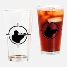Airsoft crosshairs Drinking Glass