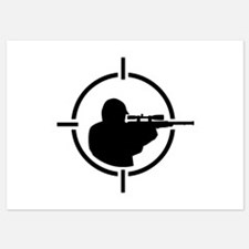 Airsoft crosshairs Invitations